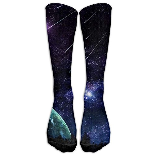 Amazing Meteor Shower Athletic Tube Stockings Women's Men's Classics Knee High Socks Sport Long Sock One Size