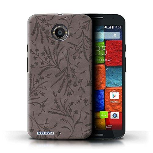 Kobalt® Imprimé Etui / Coque pour Motorola Moto X (2014) / Rouge/Vert conception / Série Motif floral blé Gris