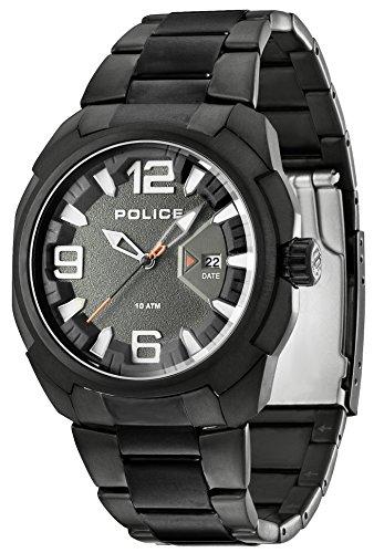 Police Herren-Armbanduhr XL TEXAS Analog Quarz Edelstahl beschichtet PL.13836JSB/61M