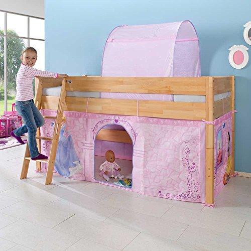 *Kinderhochbett im Prinzessin Design halbhoch Pharao24*