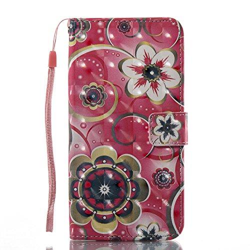Gurt Lederhülle für iPhone 6S Plus,Premium Seil Brieftasche für iPhone 6 Plus,Funyye Stilvoll Luxuriös 3D Pariser Turm Muster PU Leder Zubehör im Bookstyle Schale mit Ständer Standfunktion Etui Karten Color-02