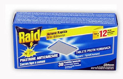 Raid Antimückenspirale Elektro Blutplättchen Laminate 30Stück