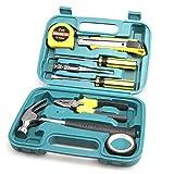 AMYMGLL Autoteile 9 Sets Hardware Werkzeugkasten mit Hammer Auto Notfall-Kit Werkzeuge Home Kombi-Werkzeug-Set