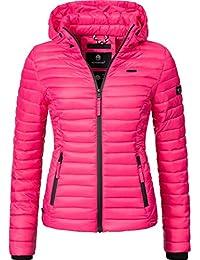 Marikoo Damen Übergangs-Jacke Steppjacke Samtpfote Pink Gr. L