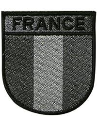 Insigne Brodé France Basse Visibilité Gris