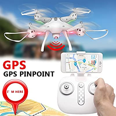 Jiayuane120°FOV FPV RC Quadcopter Drone, X8PRO Large 4-axis Aircraft GPS Real-timeAerial Drone Aircraft Remote Control Aircraft Model