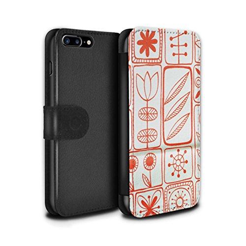 Stuff4 Coque/Etui/Housse Cuir PU Case/Cover pour Apple iPhone 6S / Motif de Corail Design / Textiles Maison Collection Motif de Corail