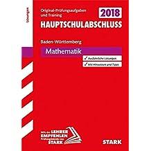 Abschlussprüfung Hauptschule Baden-Württemberg - Mathematik Lösungsheft
