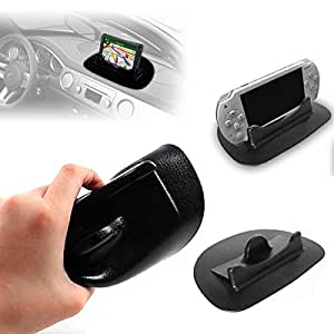 G-HUB® - Smart Stand - Universal Anti Slip Gadget Holder for GPS Sat Nav (Can alternatively be used as a Holder for a SmartPhone, Tablet, Portable Handheld Games Consoles, iPhone, iPod, iPad, etc.) For In-Car Use on Dashboard or Desk Top Use in Office - BLACK