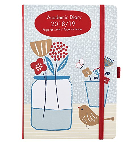 Academic Diary 2018-2019 Week To View A5 Busy Life Diary With Pockets
