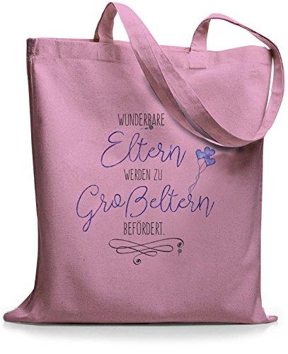 StyloBags Jutebeutel / Tasche Wunderbare Eltern werden Großeltern befördert Rosa