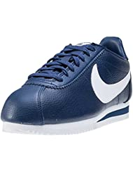 Nike Classic Cortez Leather, Chaussures de Running Entrainement Homme, Blanc, 45 EU