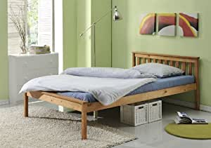 Double Bed Vancouver Wooden Pine Bed 4ft Wooden Frame