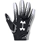 Under Armour - UA F6 American Football Handschuhe - Black/White - Large