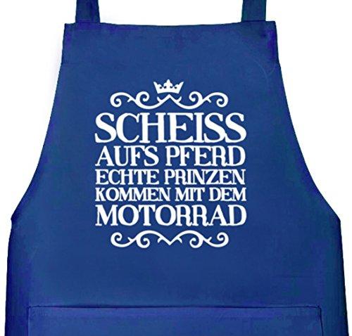 Camiseta street24, scheiss aufs caballo, Moto, Grillen Barbecue Grill-Delantal Delantal Azul Real
