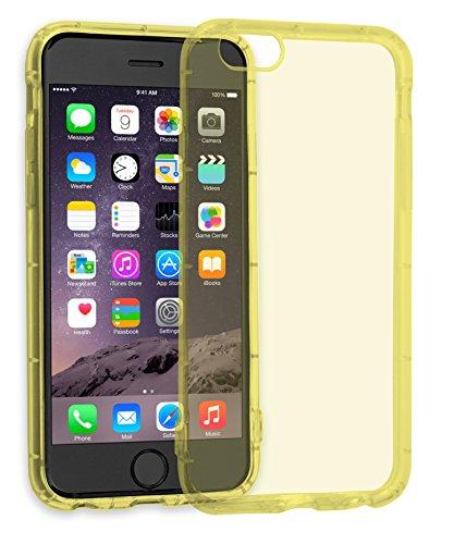 MyGadget TPU Silikon Hülle für - Apple iPhone 6 / 6s - ultra dünn (1 mm) inkl. Staubschutz Gummi Schutzhülle Cover Crystal Case Silikonhülle in Grau Crystal Case Gelb