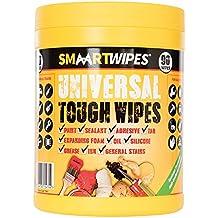 Smaart 778647 - Pack de 90 toallitas resistentes para limpieza general, color blanco