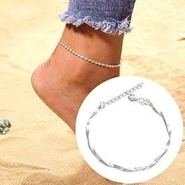 Beautijiam cavigliere per donne piede gioielli boho Slim Summer strato piede catena cavigliera braccialetto fascino