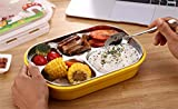 FWQPRA stainless steel lunch box with compartment/kids meal box/leakproof bento lunch box container 1 PC.