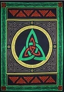 Trouver quelque chose différents celtique Tapisserie/Couvre-lit par Arbre Vert, coton, multicolore, 133x 193cm