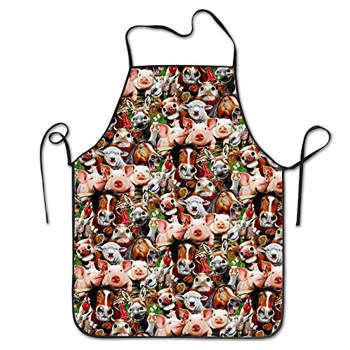 Pigs Personalized Aprons Home Bib Apron for Women Men Girl Kids Gifts Kitchen Decorations ()