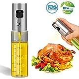 INVOKER Öl Sprüher Flasche 100ML, Olivenöl Glasflasche - Öl Essig Spender mit Bürste und Trichter für BBQ, Kochen, Grillen, Pasta, BPA-Frei und 100% Lebensmittelsicherheit
