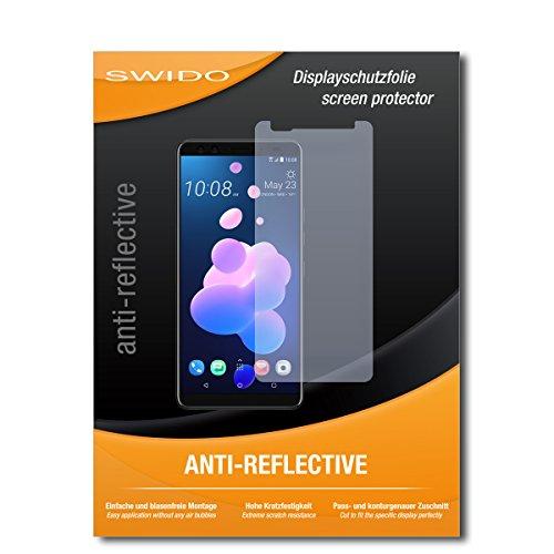SWIDO Schutzfolie für HTC U12+ [2 Stück] Anti-Reflex MATT Entspiegelnd, Hoher Härtegrad, Schutz vor Kratzer/Bildschirmschutz, Bildschirmschutzfolie, Panzerglas-Folie