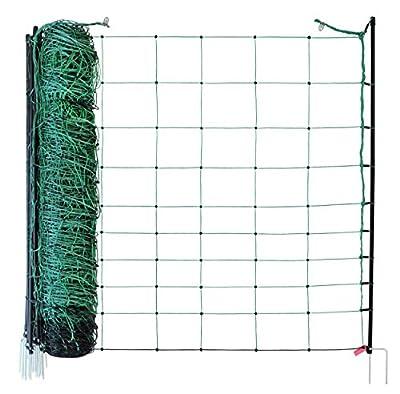 EIDER AGRARnet Schafnetz in 90cm 1 Spitz 50 m lang - Agilitynetz in Top Qualität - Auch für große Hunde als Agilitynetz - Grün von Eider Landgeräte GmbH auf Du und dein Garten