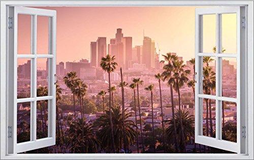 Los Angeles Stadt Sonnenuntergang Wandtattoo Wandsticker Wandaufkleber F0950 Größe 100 cm x 150 cm