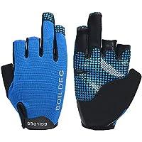 Preisvergleich für Zalock Glowing Fishing Gloves Outdoor Rowing Wearable Sunscreen Sailing Gloves Hantel Anti-Rutsch Halbe Finger Sport Handschuhe Adjustable Handgelenkstütze Gloves