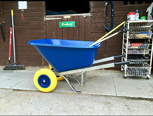 wheelbarrow 200l blue Puncture-Proof wheels wheelbarrow - delivered fully assembled