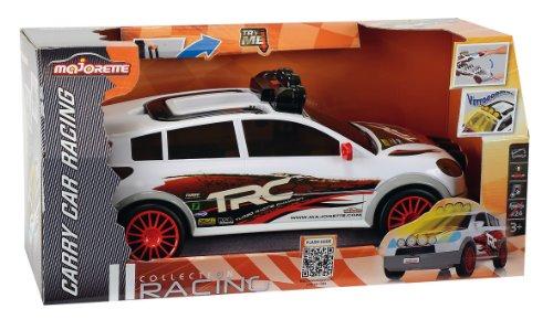 Majorette 212088200 - Racing Carry Car, Aufbewahrungsbox für 24 Autos, Licht, Sound, Startrampe für 12 Autos, 45 cm (Licht Aufbewahrungsbox)