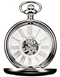 KS KPFH004–Reloj de bolsillo para hombre, estilo vintage, de aleación plateada, con...