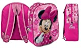 Star  Disney Minnie Art. Codice 54690, Zaini Stampati in 3D, Dimensioni: 26,5 x 10 x 31 cm.