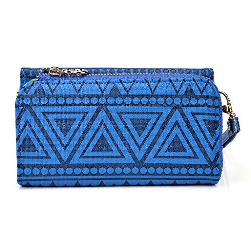 Kroo Tribal Urban Style Phone Case Wall Let Embrayage pour Oppo N3 bleu roi bleu roi