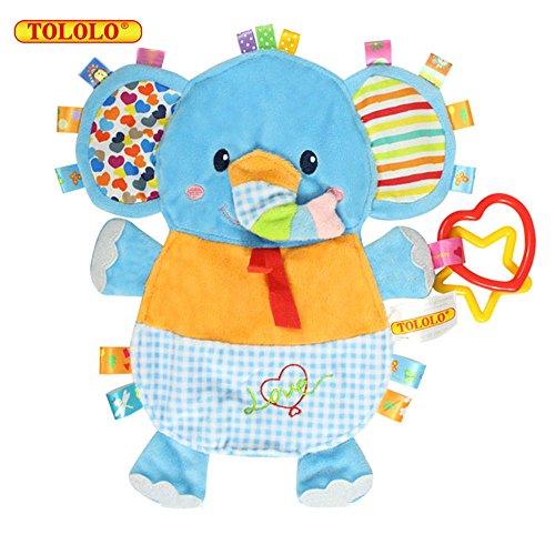 Baby Kleinkindspielzeug Handmade Beruhigend Stoffspielzeug Hübsch Weich Plüsch Tiere Badespielzeug,Elefant