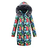 Frauen Winter Lange Daunenmantel Jacke Baumwolle Parka Fleece mit Kapuze Mantel Jacke Outwear