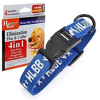 Colliers anti-puces et tiques 4en1 pour grand chien, Protection unique contre les puces et leurs ½ufs de puces, les tiques, les moustiques, Colliers, laisses, harnais basiques pour chiens
