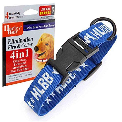 Gran perro 4 in1 pulgas y garrapatas Collar único protector pulgas, huevos de pulgas, garrapatas, mosquitos perros collares, arneses Leads básicos collares