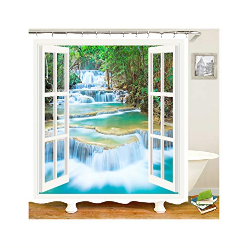 KnSam Anti-Schimmel Duschvorhang Quelle Badewanne Vorhang Anti-Bakteriell, Waschbar, -
