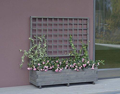 Blumenkasten mit Rankgitter Hellbrunn 136x37x140cm vintage-grau