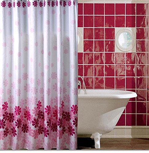 Verdickung Wasserdicht Peach Blossom, Polyester Badewanne Vorhang, Vorhang Vorhang, Keine Stange, 280 X 200 High - Peach Blossom Dusche