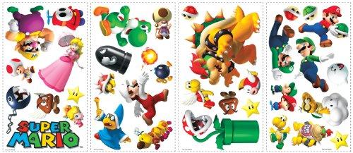 roommates-539026-sticker-multi-elements-repositionnable-super-mario-vinyle-vert
