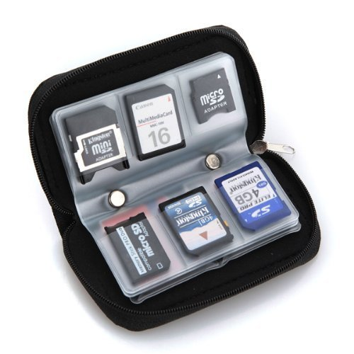 22 slots Memory Card SD card Storage Carrying Pouch Holder Wallet Case Bag Test