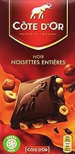 Côte d'Or Tablette de Chocolat Noir Noisettes Entières 200 g - Lot de 7