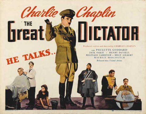 The Great Dictator Affiche du film Poster Movie Le dictateur grand (30 x 40 In - 77cm x 102cm) Style A