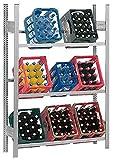 Hofe PROFI Getränkekistenregal für 9 Kisten, 175x106x34 cm | Getränkekistenhalter | Getränkekistenständer | Kistenständer für Getränke | Kistenhalter | Kistenregal | Getränkeregal