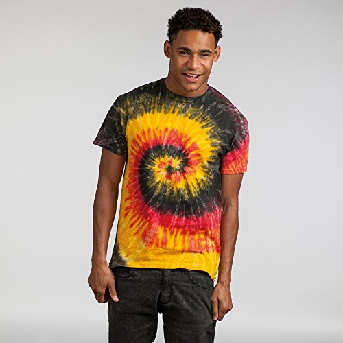 Colortone Unisex Batik T-Shirt 'Rainbow' Blue Jerry
