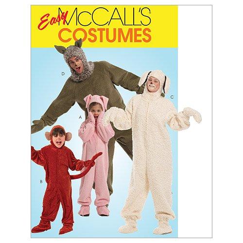 Mc Call´s Schnittmuster 5956 Adult Erwachsenen Kostüm in 4 Varianten Gr. S-M-L-XL