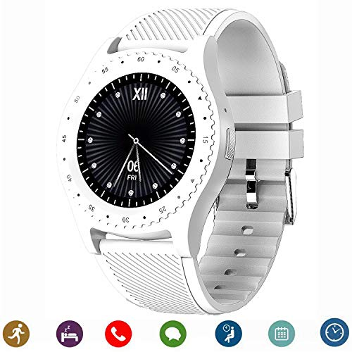 bluetooth smartwatch, canmixs cm08 smartwatch phone support sim card tf con sincronizzazione fotocamera notifiche fitness activity tracker sport watch compatibile per android ios iphone samsung lg
